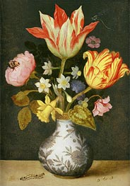 Still Life with a Wan'li Vase of Flowers, Undated by Ambrosius Bosschaert | Painting Reproduction