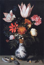 Flowers in a Vase, c.1619 by Ambrosius Bosschaert | Painting Reproduction