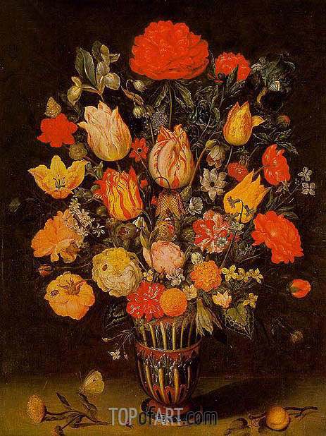 Still Life of Flowers, undated | Ambrosius Bosschaert| Painting Reproduction