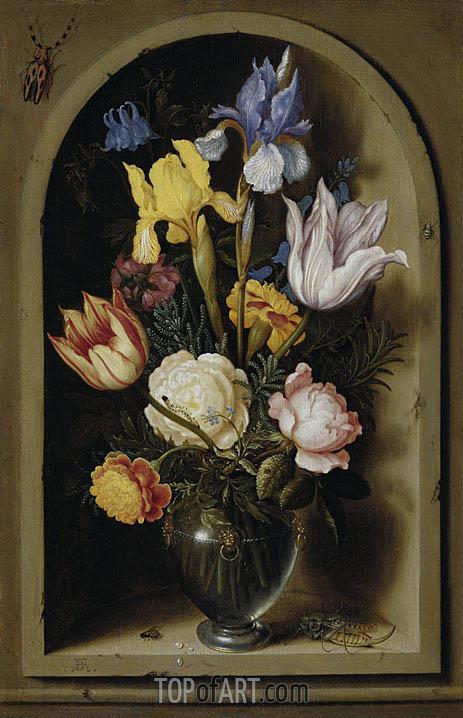 Bouquet of Flowers in a Niche, undated | Ambrosius Bosschaert | Gemälde Reproduktion