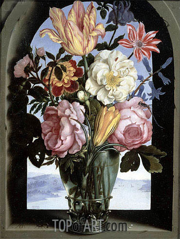 Still Life of Flowers in a Drinking Glass, undated | Ambrosius Bosschaert | Painting Reproduction