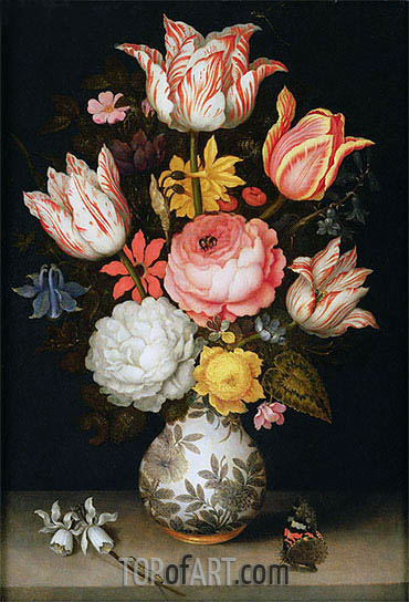 Still Life with Flowers, undated | Ambrosius Bosschaert| Gemälde Reproduktion