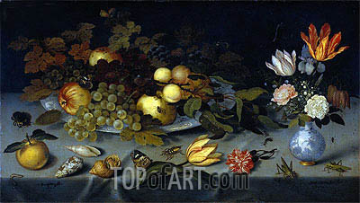 Still Life with Fruit and Flowers, c.1620/21 | Ambrosius Bosschaert | Gemälde Reproduktion