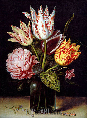 Ambrosius Bosschaert | A Still Life with a Bouquet of Tulips, undated