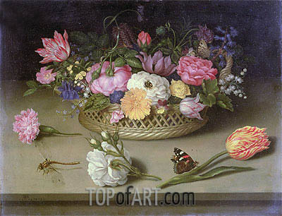 Flower Still Life, 1614 | Ambrosius Bosschaert| Painting Reproduction