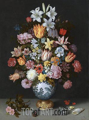 Still Life of Flowers in a Wan-Li Vase, c.1609/10 | Ambrosius Bosschaert | Painting Reproduction