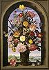 Bouquet in an Arched Window | Ambrosius Bosschaert the Elder