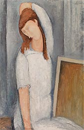 Portrait of Jeane Hebuterne, Left Arm behind Head, 1919 by Modigliani | Painting Reproduction