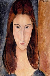 Jeanne Hebuterne, c.1917/18 by Modigliani | Painting Reproduction