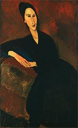 Anna Zborowska, 1917 by Modigliani | Painting Reproduction