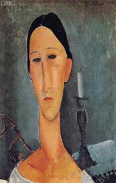 Portrait of Anna Zborowska | Modigliani | Painting Reproduction