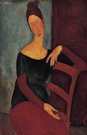 Portrait of the Artist's Wife, Jeanne Hebuterne | Modigliani | outdated