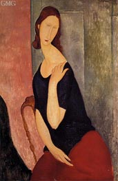 Portrait of Jeanne Hebuterne, 1919 by Modigliani | Painting Reproduction