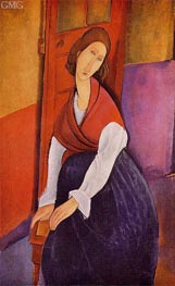 Portrait of Lunia Czechowska, 1919 by Modigliani | Painting Reproduction