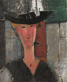 Madame Pompadour, 1915 by Modigliani | Painting Reproduction