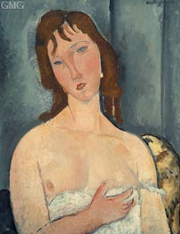 Portrait of a Young Woman, 1919 von Modigliani | Gemälde-Reproduktion