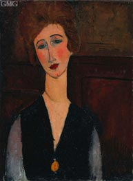 Portrait of a Woman, 1918 by Modigliani | Painting Reproduction