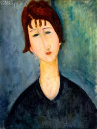 A Woman, 1920 by Modigliani | Painting Reproduction