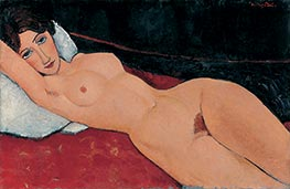 Reclining Female Nude, 1917 by Modigliani | Painting Reproduction
