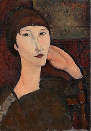 Adrienne (Woman with Bangs), 1917 by Modigliani | Painting Reproduction