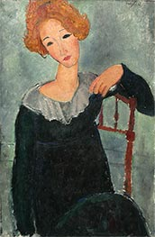 Woman with Red Hair, 1917 by Modigliani | Painting Reproduction