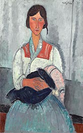 Gypsy Woman with Baby, 1919 by Modigliani | Painting Reproduction