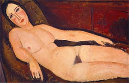 Nude on a Divan, 1918 by Modigliani | Painting Reproduction
