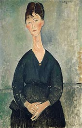 Café Singer, 1917 by Modigliani | Painting Reproduction