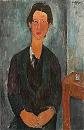 Chaim Soutine, 1917 by Modigliani | Painting Reproduction