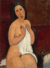 Seated Nude with a Shirt, 1917 by Modigliani | Painting Reproduction