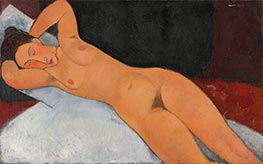 Nude, 1917 by Modigliani | Painting Reproduction