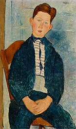 Boy in a Striped Sweater, 1918 by Modigliani | Painting Reproduction