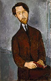 Léopold Zborowski, c.1916 by Modigliani | Painting Reproduction