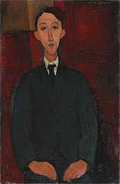 Portrait of the Painter Manuel Humbert, 1916 by Modigliani | Painting Reproduction