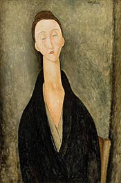 Lunia Czechowska, c.1918 by Modigliani | Painting Reproduction