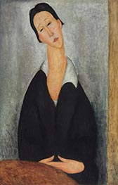 Portrait of a Polish Woman, 1919 by Modigliani | Painting Reproduction