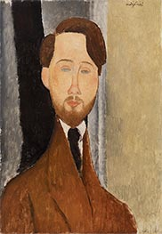 Léopold Zborowksi, 1919 by Modigliani | Painting Reproduction
