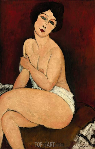 Seated Nude, 1917 | Modigliani | Gemälde Reproduktion