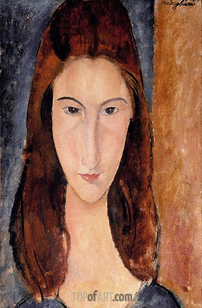 Jeanne Hebuterne, c.1917/18 | Modigliani | Painting Reproduction