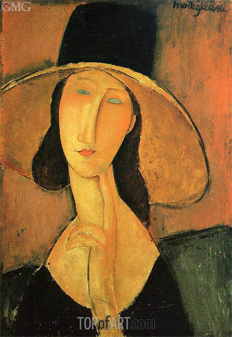 Modigliani | Jeanne Hebuterne in a Large Hat, 1918