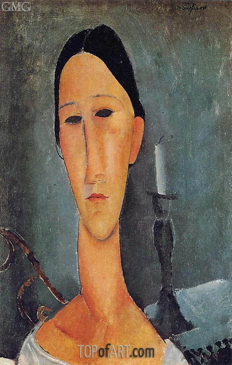 Portrait of Anna Zborowska, 1919 | Modigliani | Painting Reproduction