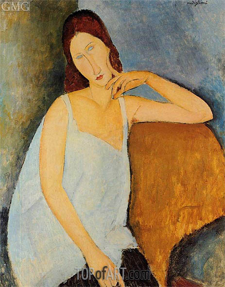 Modigliani | Portrait of Jeanne Hebuterne, Sitting, 1918