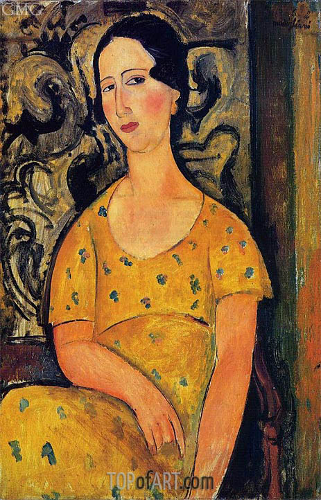 Modigliani | Young Woman in a Yellow Dress (Madame Modot), 1918