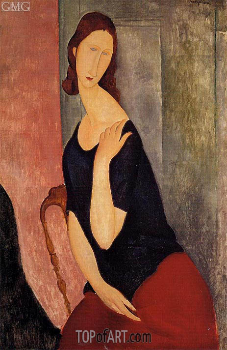 Modigliani | Portrait of Jeanne Hebuterne, 1919