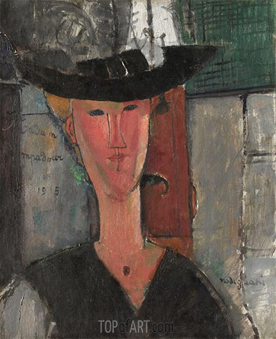 Madame Pompadour, 1915 | Modigliani | Painting Reproduction