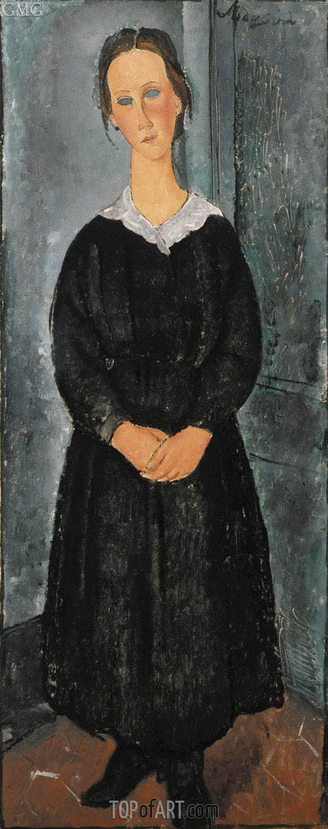 The Servant Girl, c.1918 | Modigliani | Gemälde Reproduktion