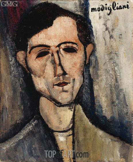 A Man, 1916 | Modigliani | Painting Reproduction