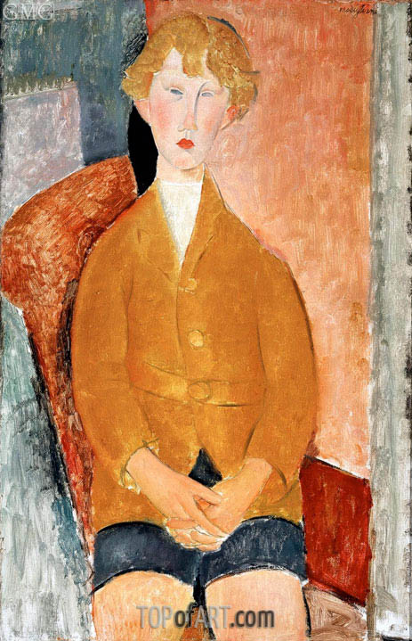 Modigliani | Boy in Short Pants, c.1918