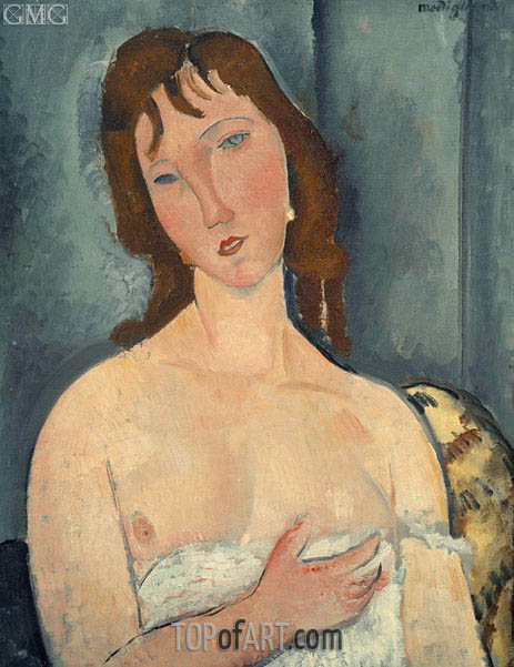 Portrait of a Young Woman, 1919 | Modigliani | Gemälde Reproduktion