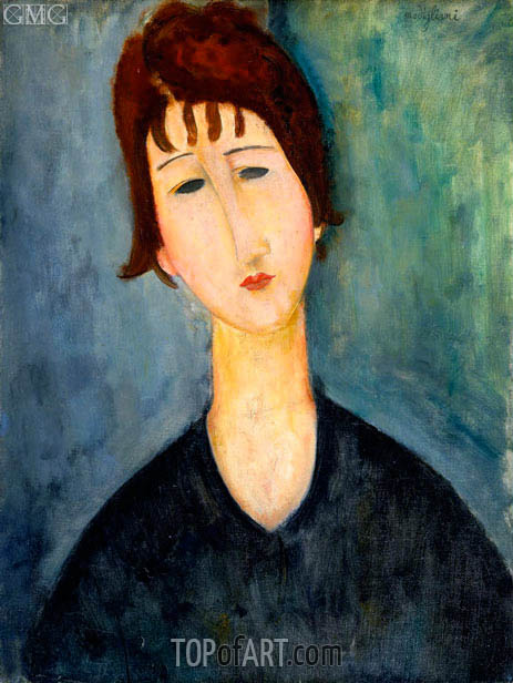 A Woman, 1920 | Modigliani | Painting Reproduction